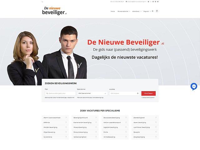De Nieuewe Beveiliger website
